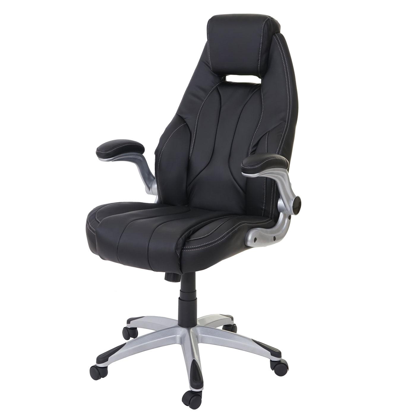 b rostuhl hwc a65 schreibtischstuhl chefsessel drehstuhl kunstleder schwarz. Black Bedroom Furniture Sets. Home Design Ideas