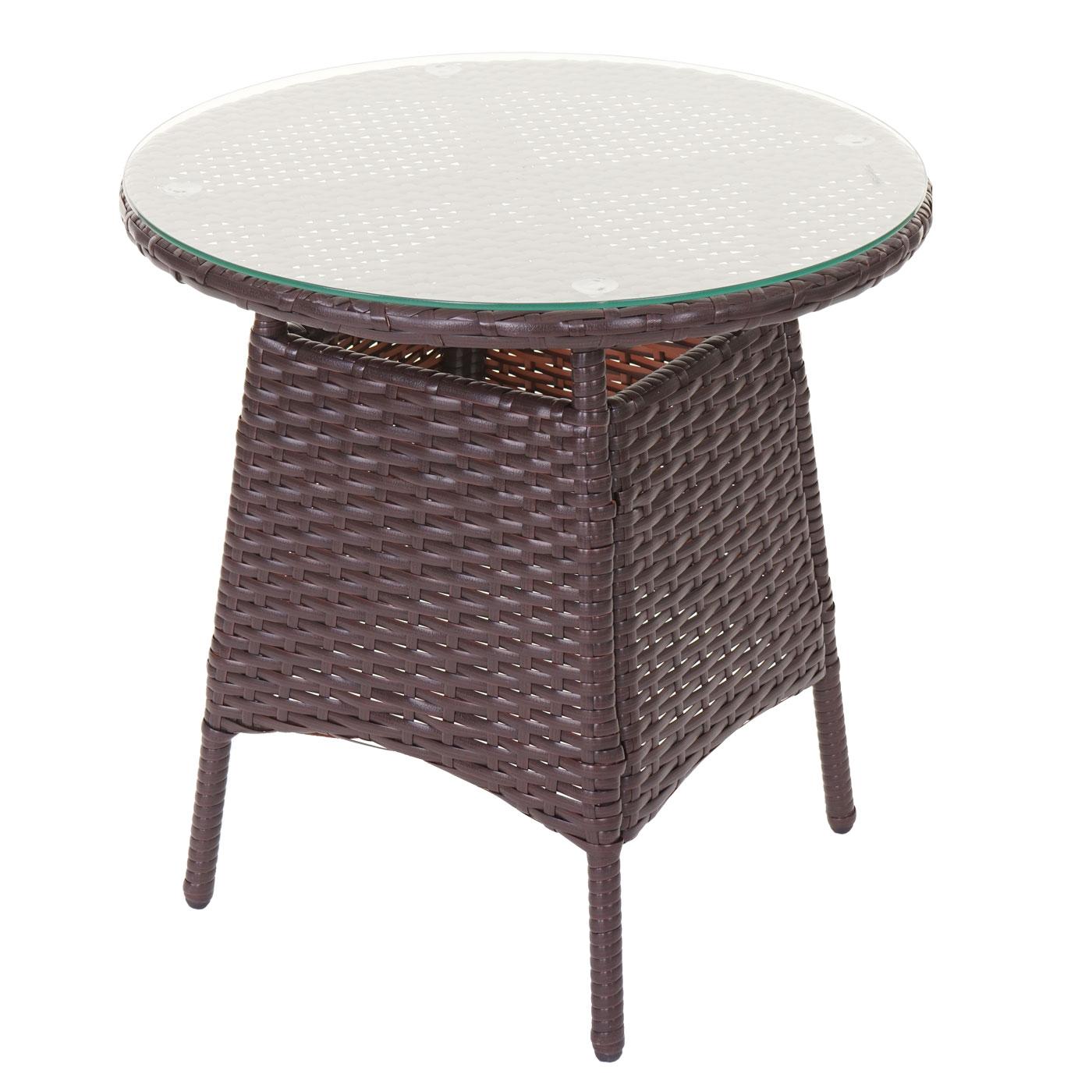poly rattan garnitur hwc a82 balkon set gartenm bel sitzgarnitur braun kissen creme. Black Bedroom Furniture Sets. Home Design Ideas