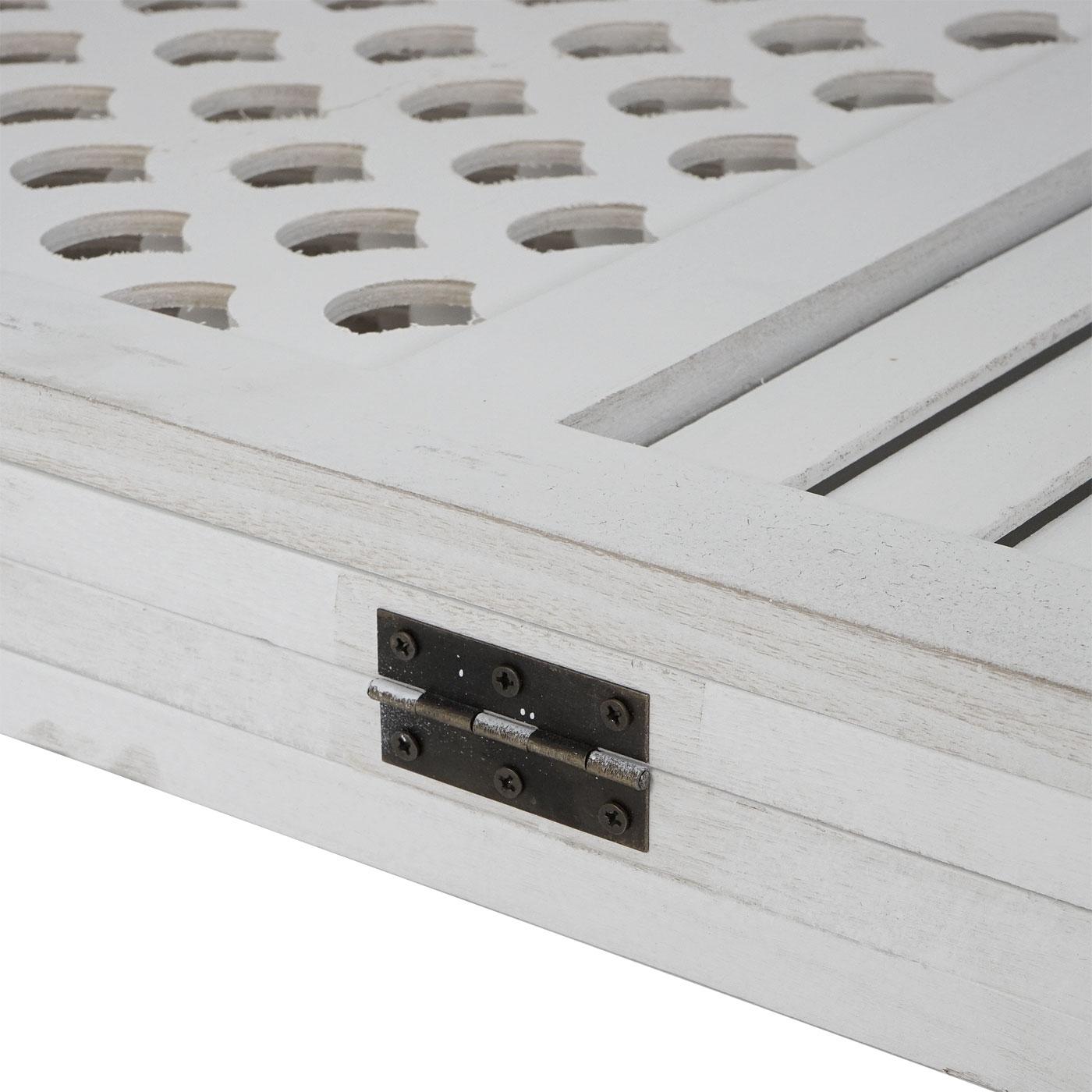 Raumteiler Trennwand Sichtschutz Mendler Paravent HWC-A84 Ornamente 170x161cm ~ braun