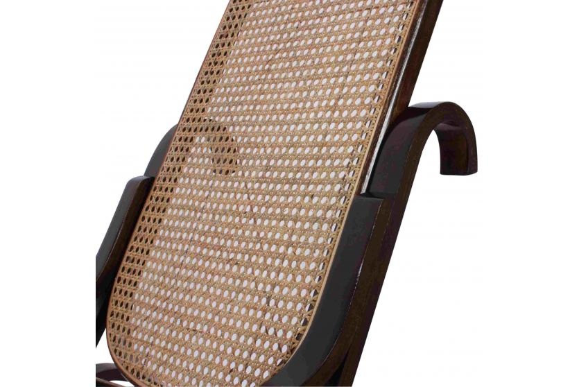 schaukelstuhl schwingsessel m41 aus holz walnuss rattan ebay. Black Bedroom Furniture Sets. Home Design Ideas