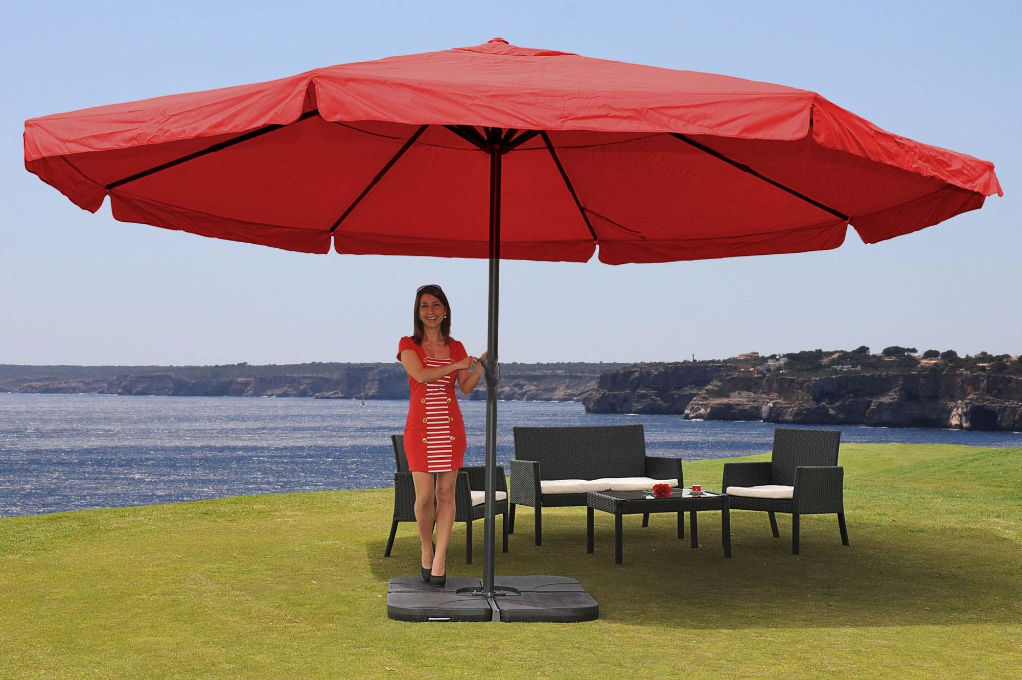 parasol en aluminium meran pro avec volant 5m. Black Bedroom Furniture Sets. Home Design Ideas
