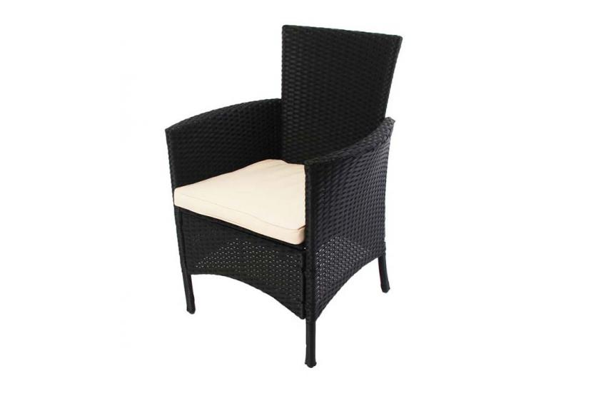 2x gartensessel korbsessel romv poly rattan alu 85 5x61x60 cm anthrazit. Black Bedroom Furniture Sets. Home Design Ideas
