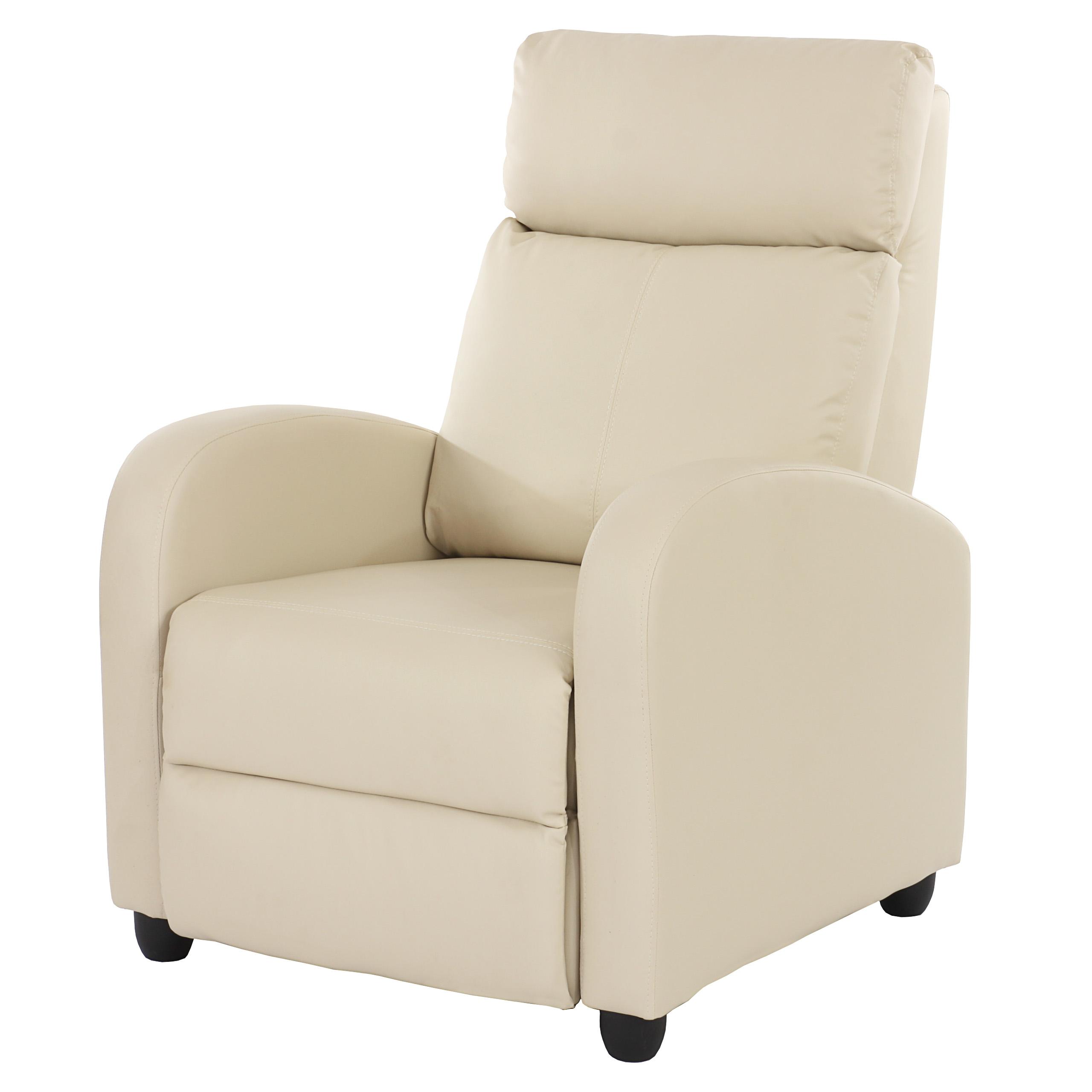 fernsehsessel relaxsessel liege sessel denver kunstleder creme. Black Bedroom Furniture Sets. Home Design Ideas