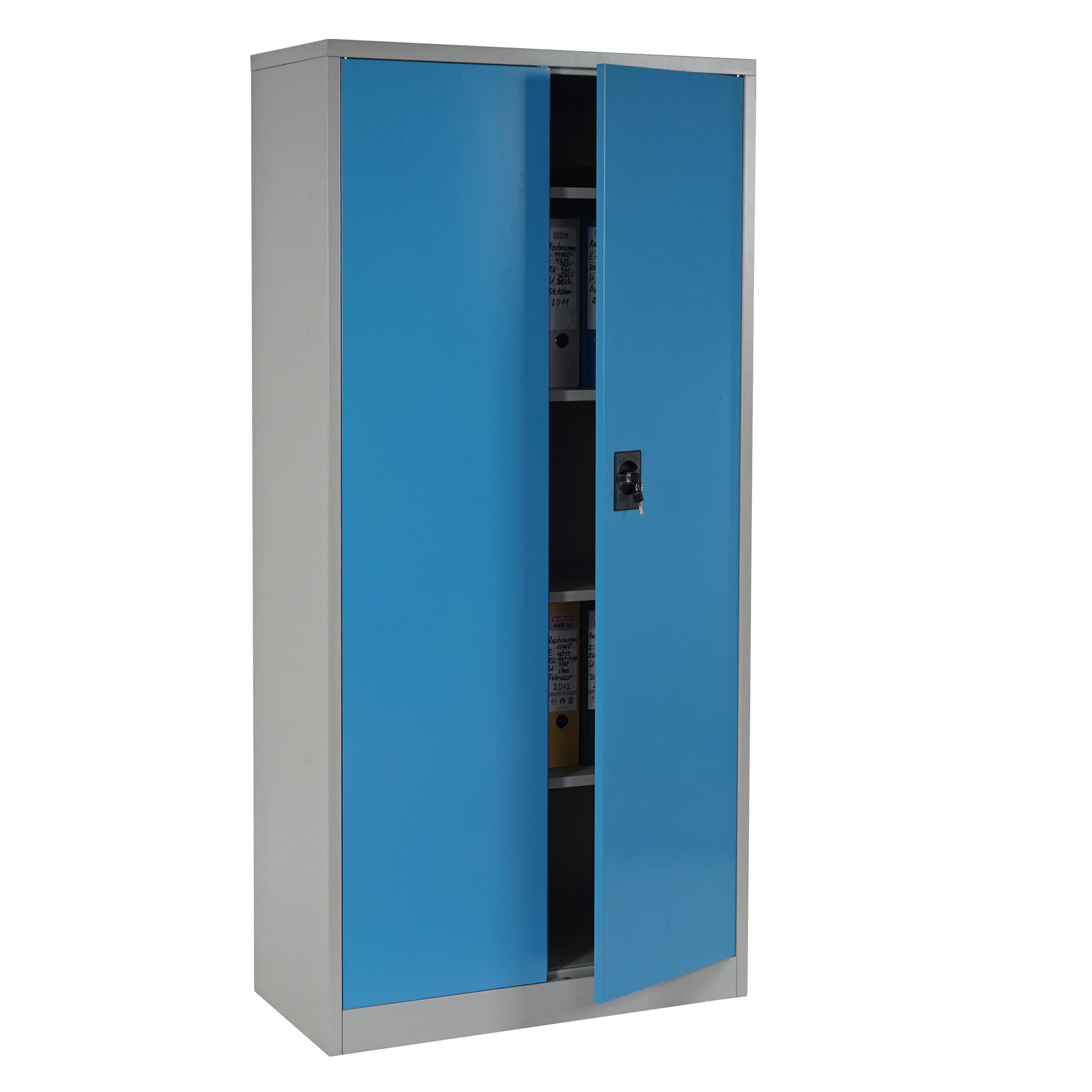 Boston T130, Metallschrank Büroschrank, 47kg 2 Türen 180x85x40cm ...