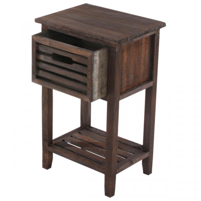 kommode beistelltisch telefontisch 57x35x27cm shabby look vintage braun. Black Bedroom Furniture Sets. Home Design Ideas