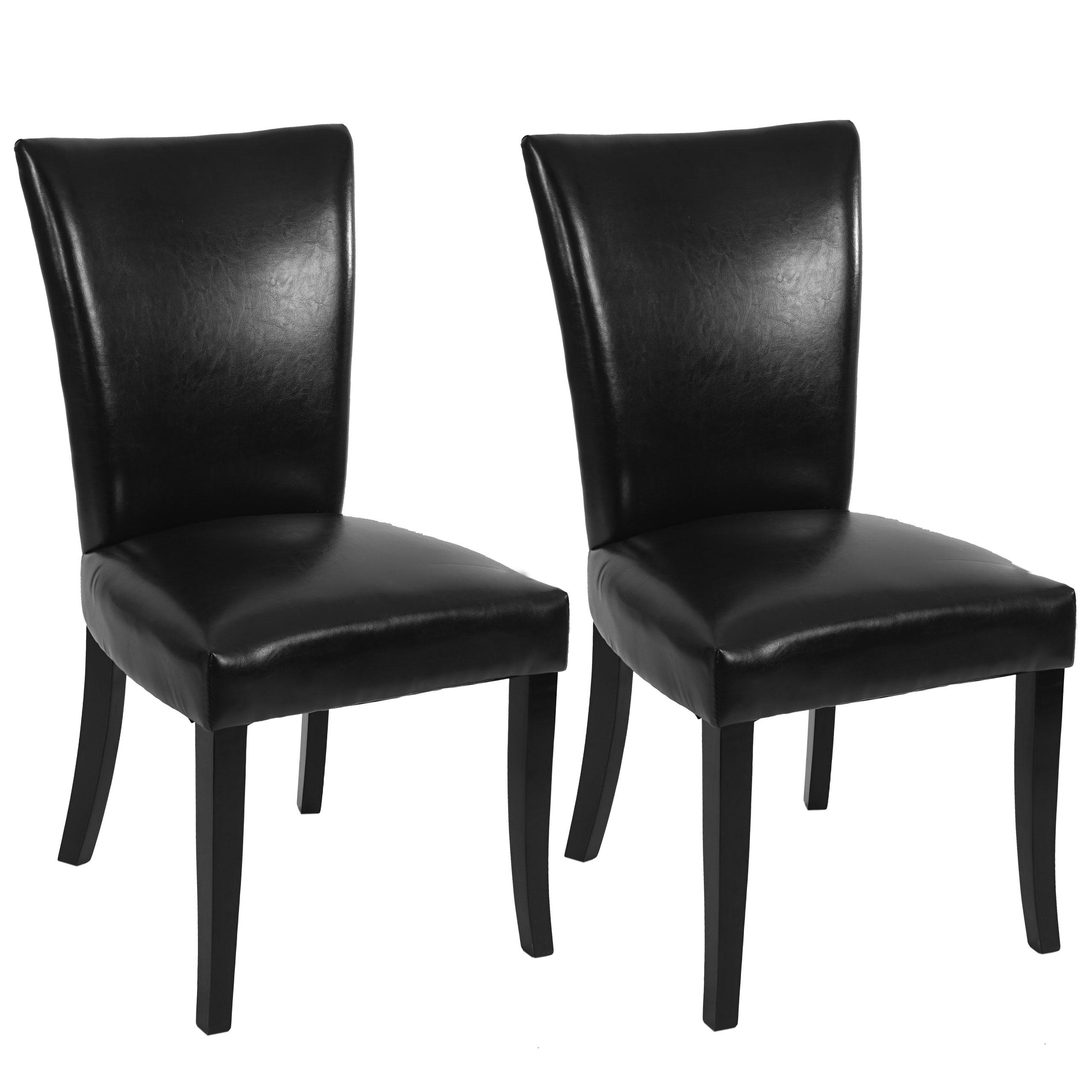 2x esszimmerstuhl chesterfield stuhl lehnstuhl nieten kunstleder schwarz dunkle beine. Black Bedroom Furniture Sets. Home Design Ideas