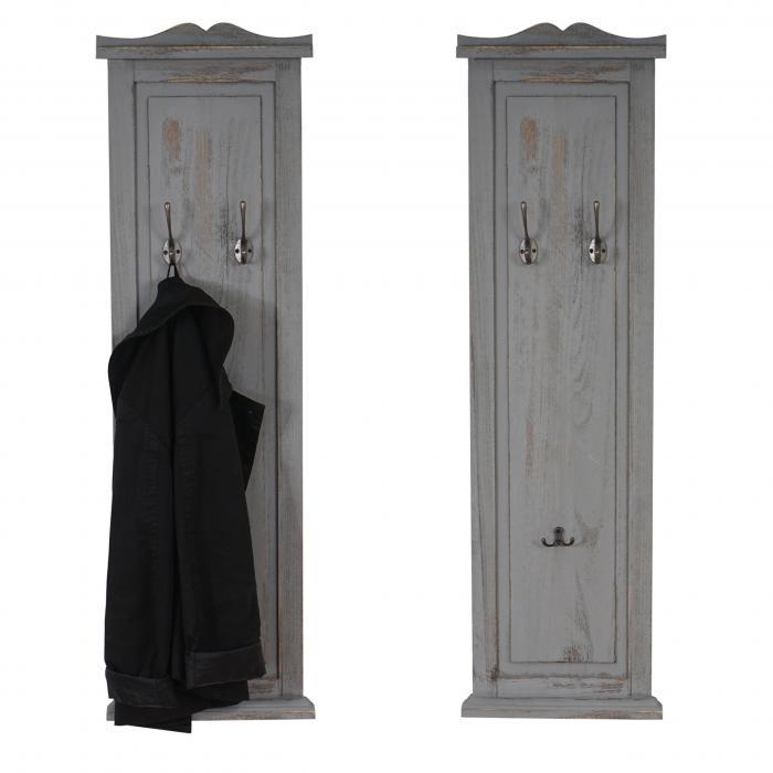 2x garderobe wandgarderobe garderobenpaneel wandhaken for Garderobenpaneel grau