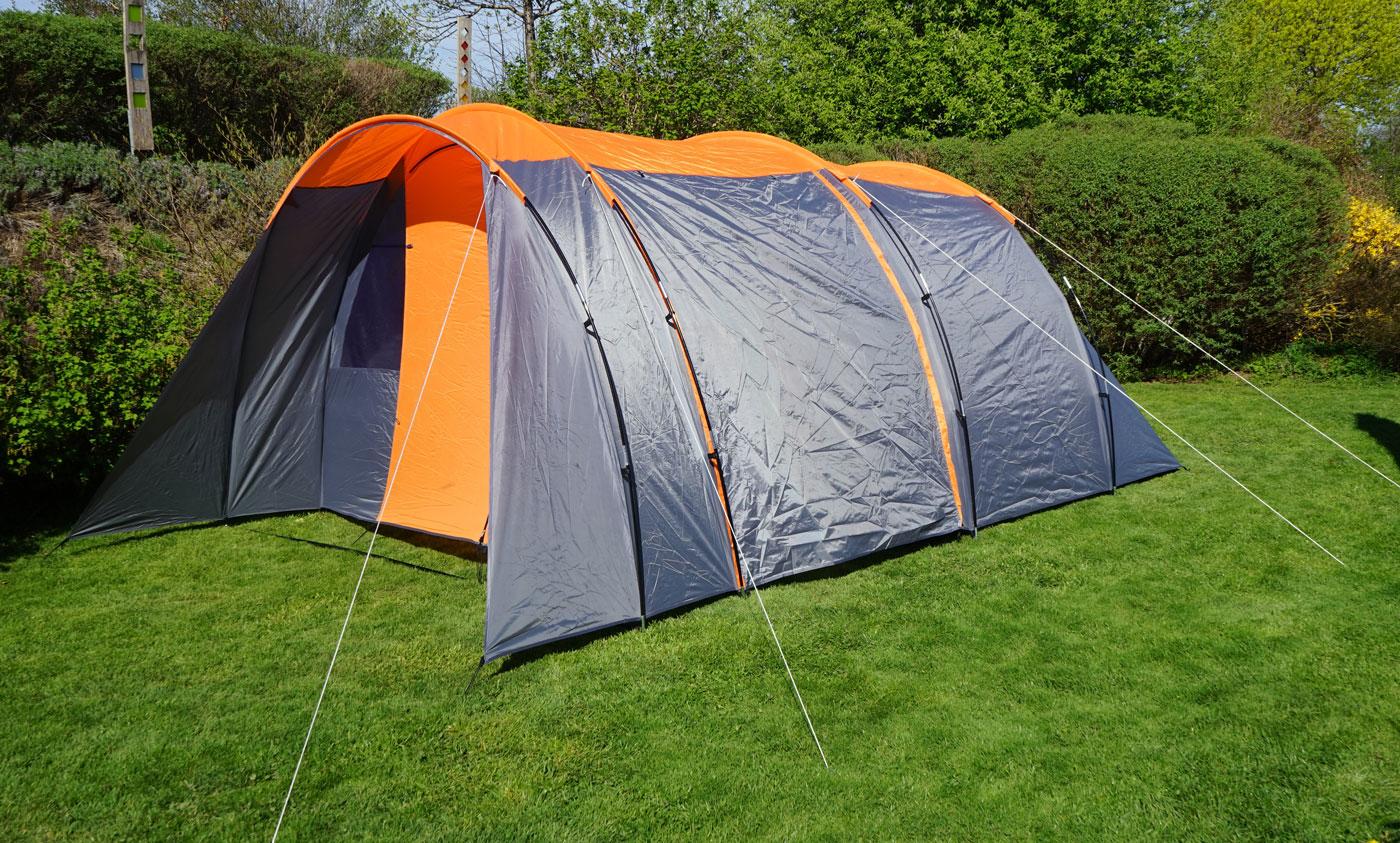 campingzelt hwc a99 6 mann zelt kuppelzelt festival zelt. Black Bedroom Furniture Sets. Home Design Ideas