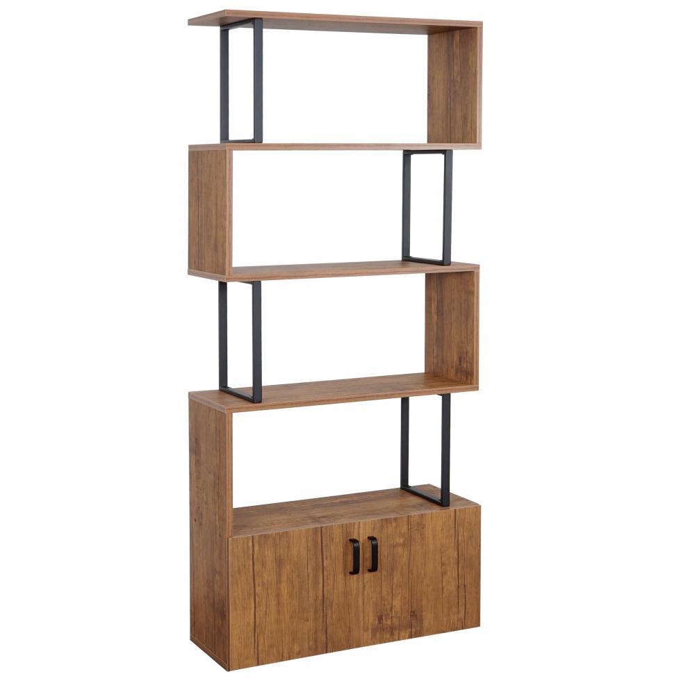 b cherregal mcw a27 standregal raumteiler 183x80cm 3d. Black Bedroom Furniture Sets. Home Design Ideas