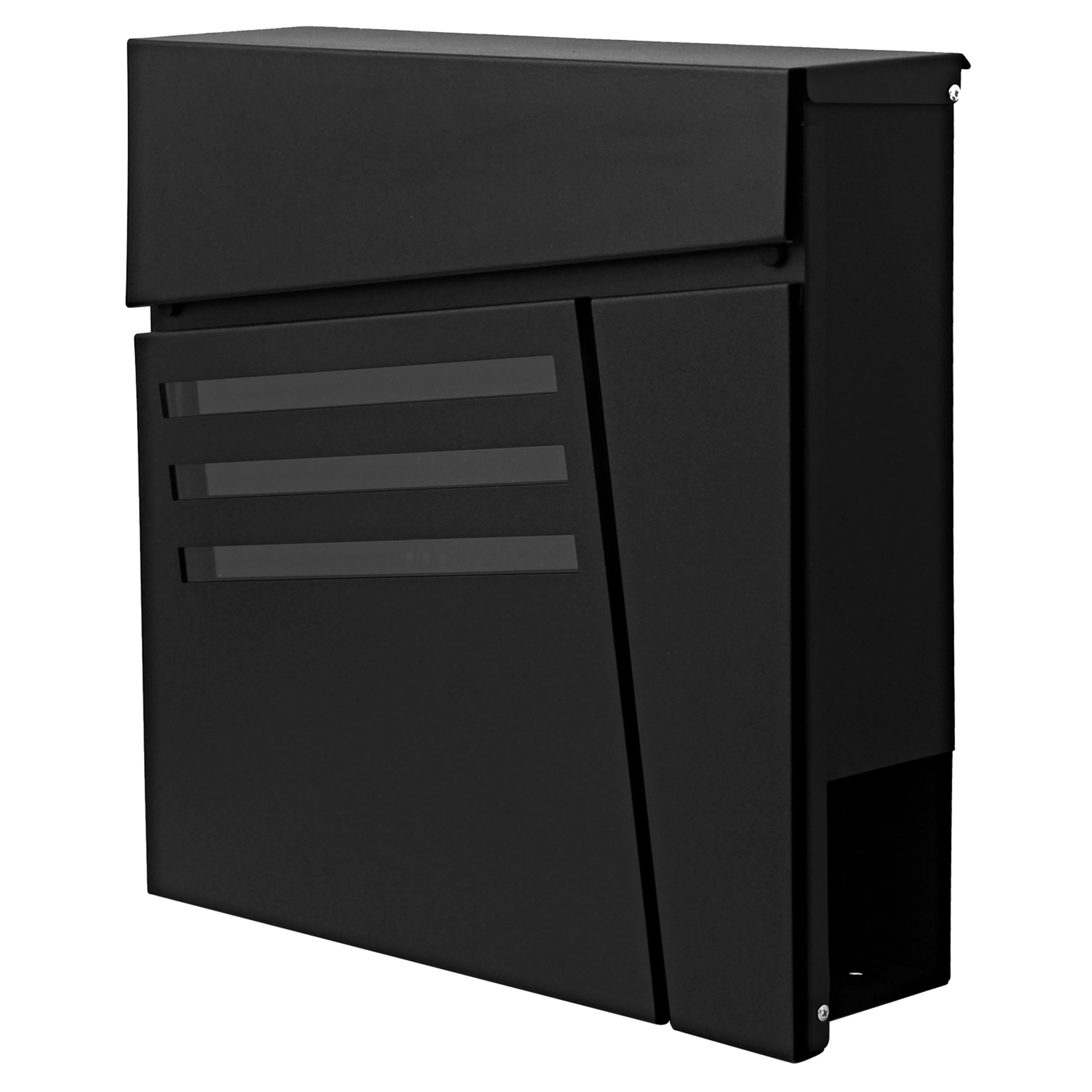 briefkasten mcw b33 wandbriefkasten postkasten zeitungsfach pulverbeschichtet anthrazit. Black Bedroom Furniture Sets. Home Design Ideas