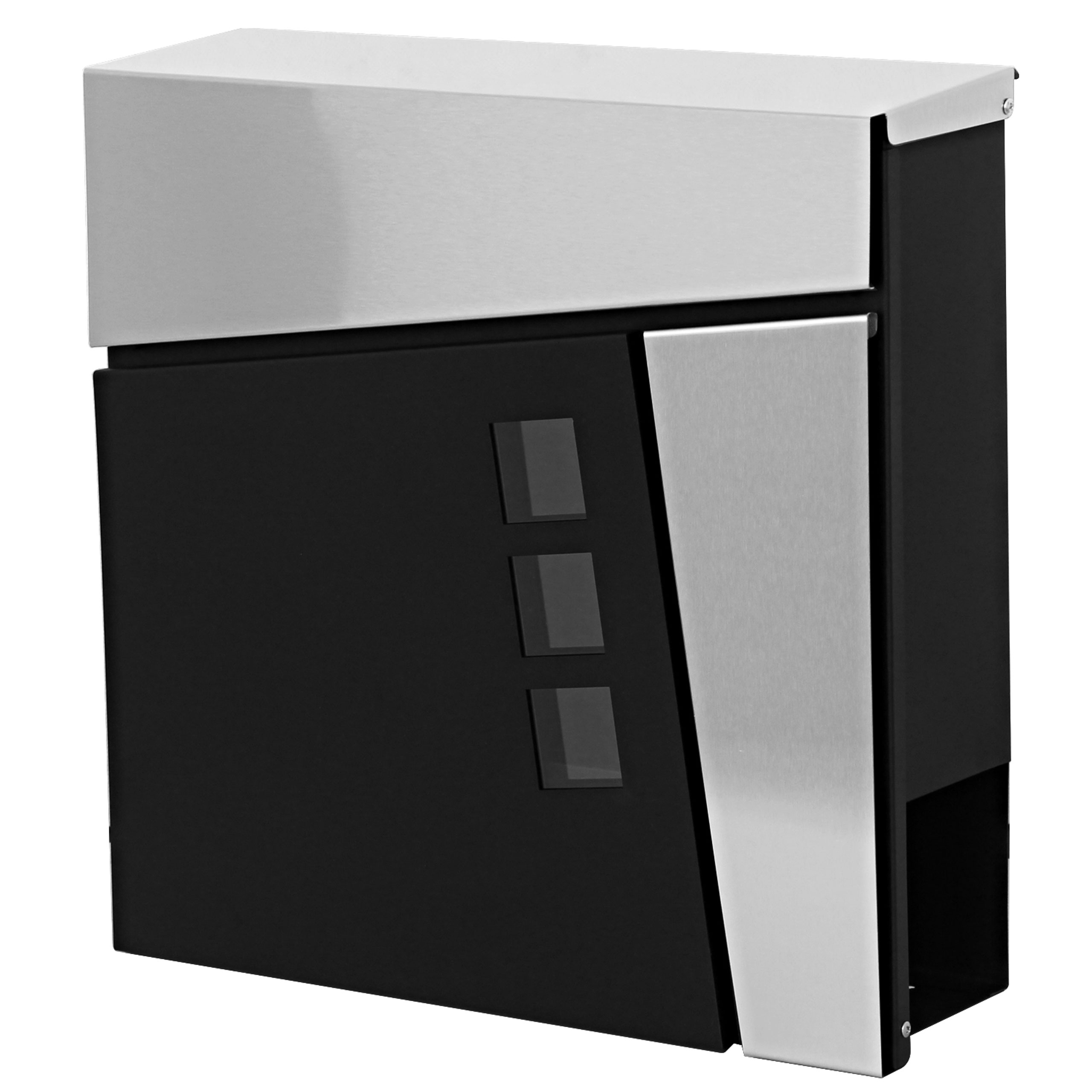 briefkasten mcw b33 wandbriefkasten postkasten zeitungsfach pulverbeschichtet anthrazit. Black Bedroom Furniture Sets. Home Design Ideas
