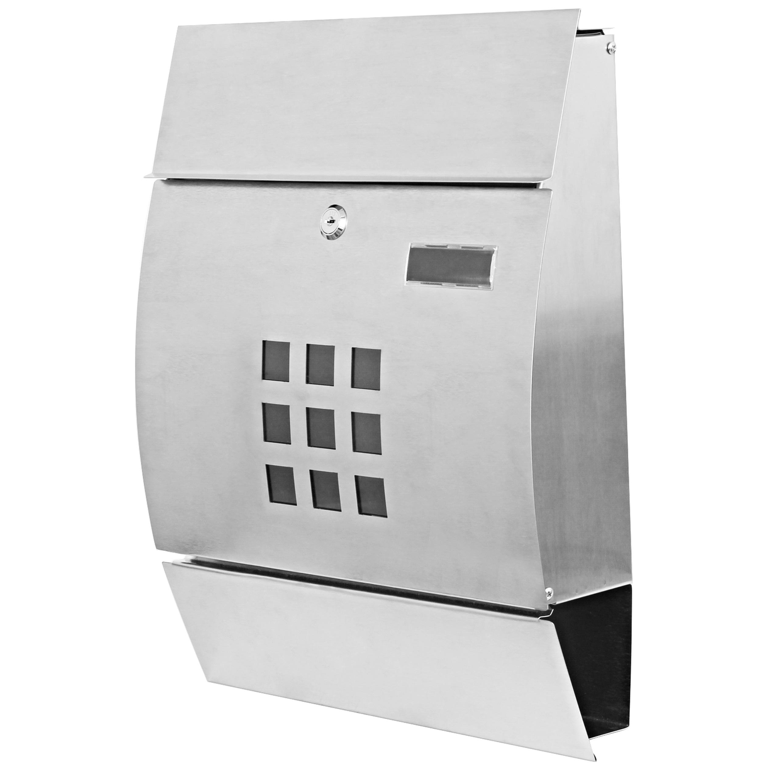 briefkasten hwc b32 wandbriefkasten postkasten zeitungsfach pulverbeschichtet edelstahl. Black Bedroom Furniture Sets. Home Design Ideas