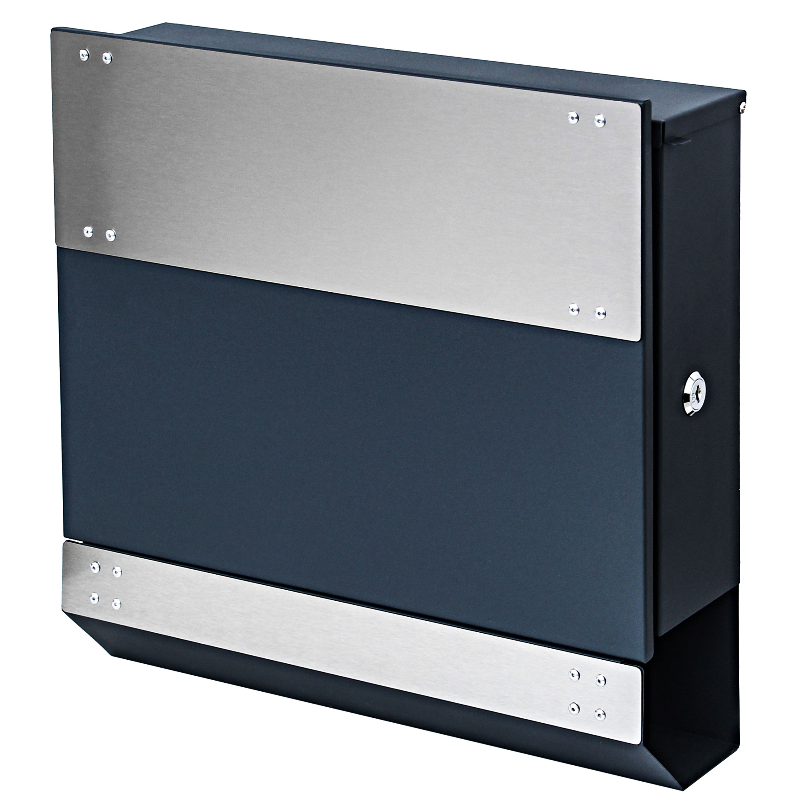 briefkasten hwc b33 wandbriefkasten postkasten zeitungsfach pulverbeschichtet anthrazit edelstahl. Black Bedroom Furniture Sets. Home Design Ideas