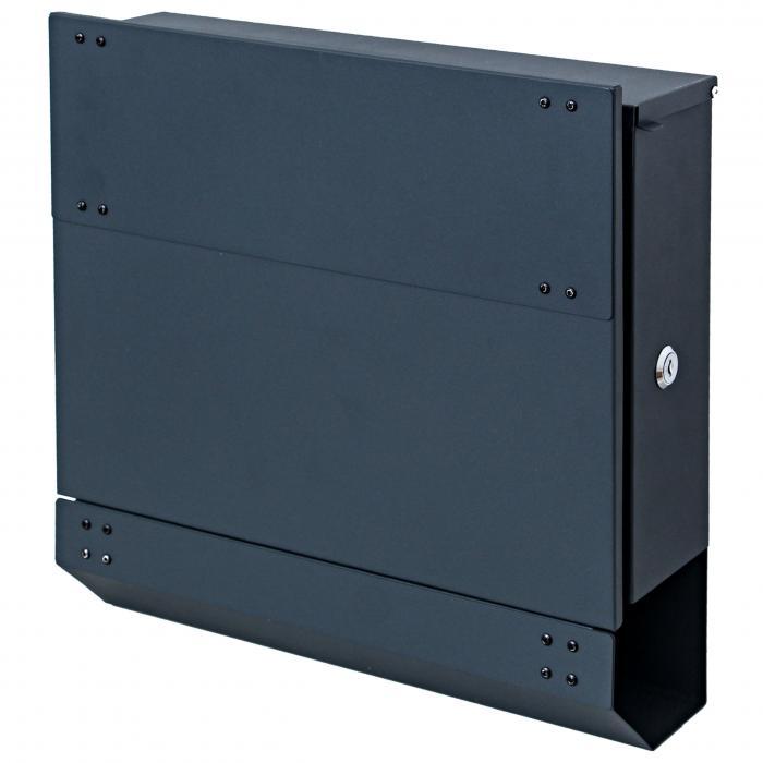 briefkasten hwc b33 wandbriefkasten postkasten zeitungsfach pulverbeschichtet anthrazit. Black Bedroom Furniture Sets. Home Design Ideas