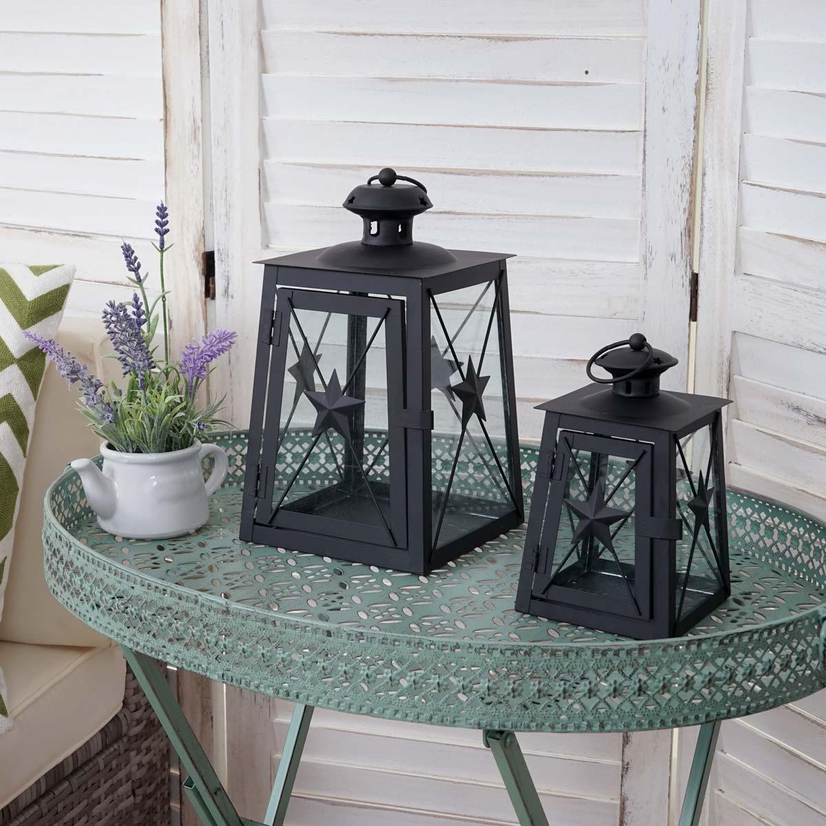 2er set laterne hwc b39 windlicht gartenlaterne metall h he 27 18cm. Black Bedroom Furniture Sets. Home Design Ideas