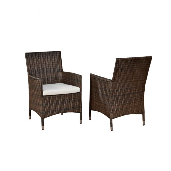 stuhl gartenstuhl julia polyrattan braun meliert. Black Bedroom Furniture Sets. Home Design Ideas