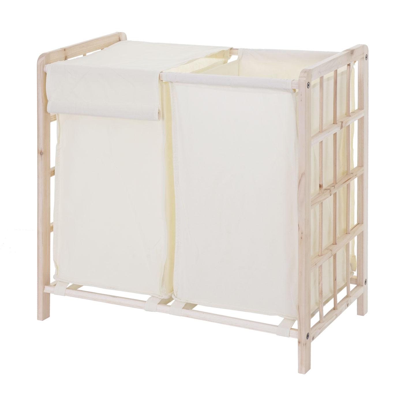 w schesammler hwc b60 laundry w schesortierer tanne 2 f cher 60x60x33cm 68l ebay. Black Bedroom Furniture Sets. Home Design Ideas