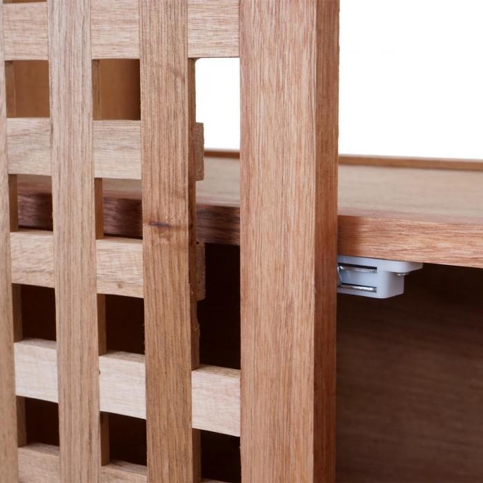 Waschbeckenunterschrank hwc b61 badschrank badezimmer for Badezimmer unterschrank holz