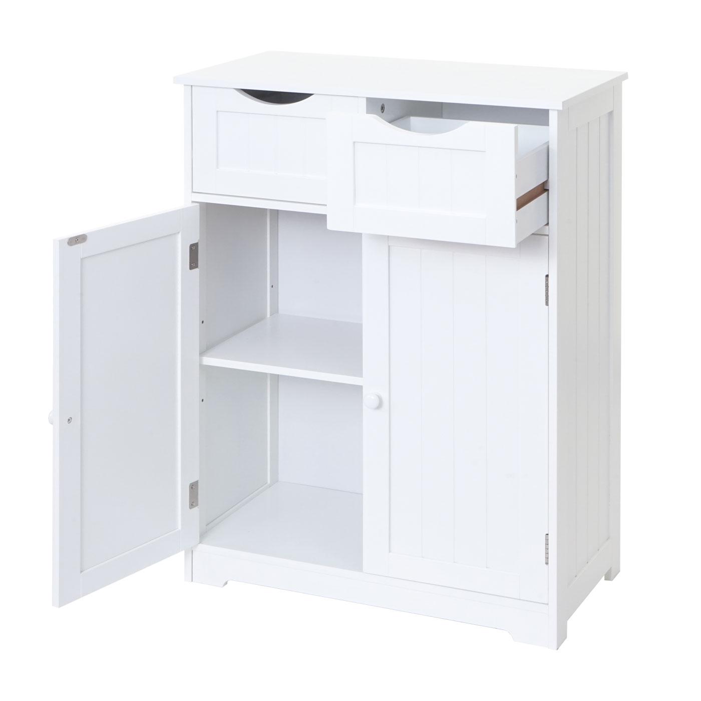Kommode HWC-B65 Gesamtansicht Schublade und Türe geöffnet
