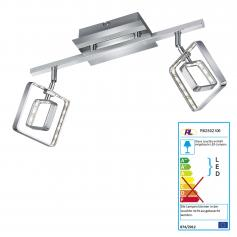 Reality|Trio LED Deckenleuchte RL155, Deckenlampe, incl. LEDs EEK A+ ~ 2 flammig, 9W