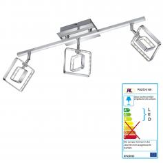 Reality|Trio LED Deckenleuchte RL155, Deckenlampe, incl. LEDs EEK A+ ~ 3 flammig, 13,5W
