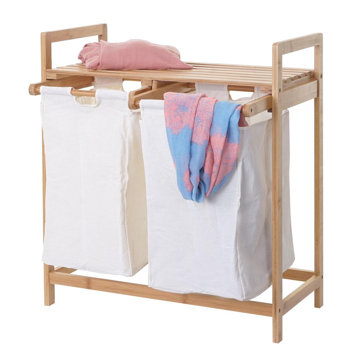w schesammler hwc b83 laundry w schesortierer w schebox w schekorb w schebeh lter bambus 2. Black Bedroom Furniture Sets. Home Design Ideas