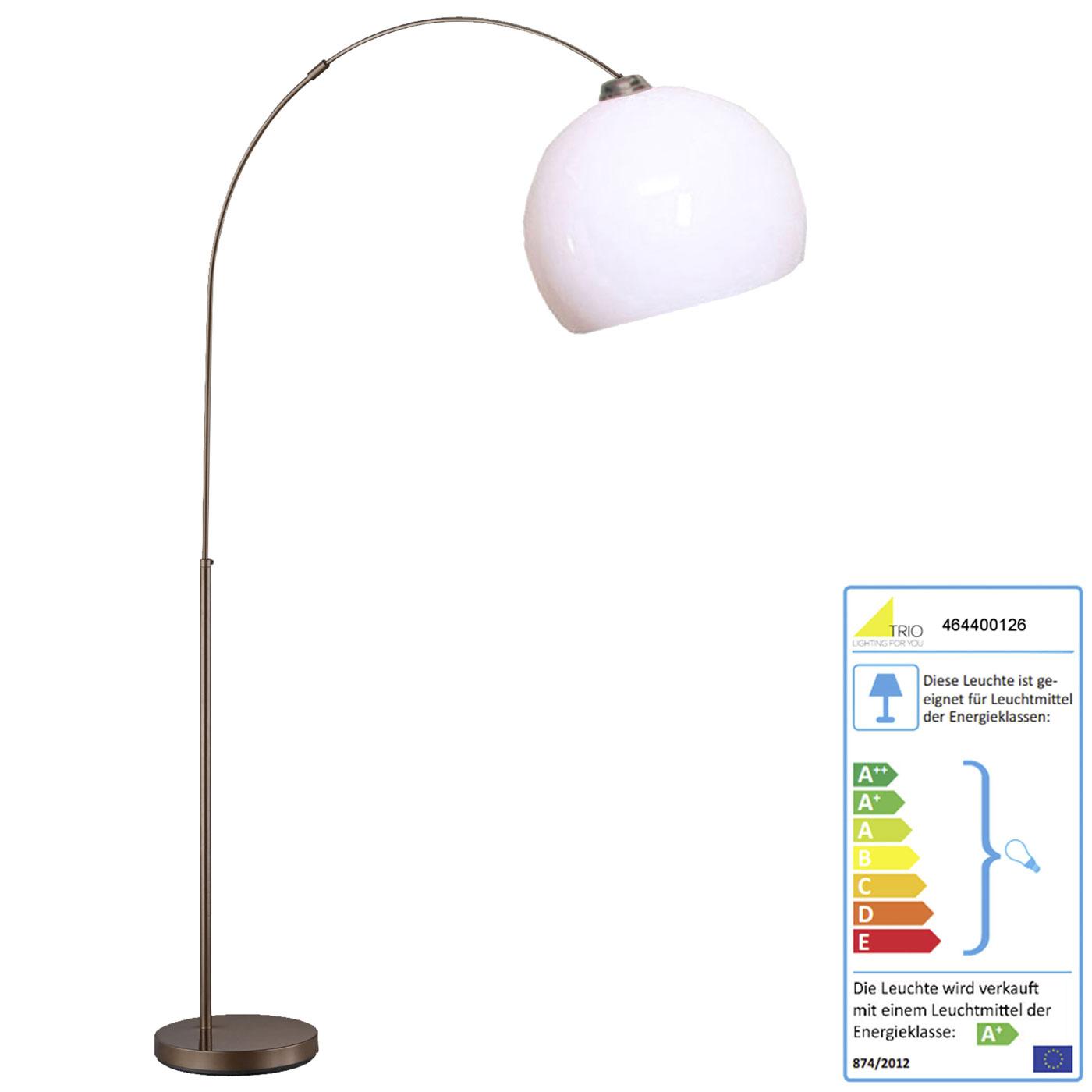 Spacing Image, Trio LED Bogenlampe RL168, Stehleuchte Standleuchte  Bogenleuchte, 195cm EEK A+ 5W ~ Weiß