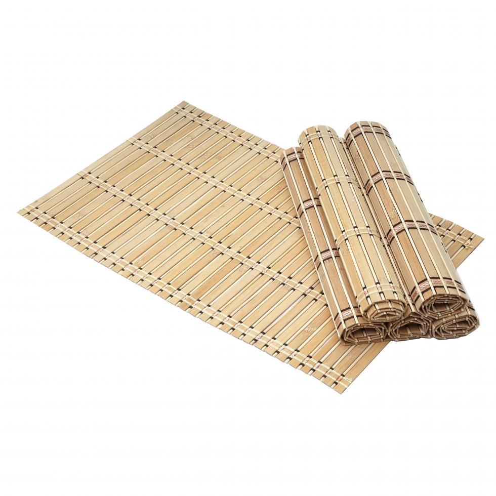 Napperons en bambou Table à manger Antiskid PadT ablemats Tapis d/'isolation