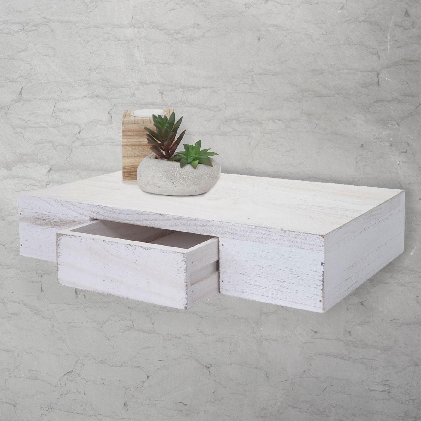 wandregal oise regal h ngeregal mit schublade 40cm. Black Bedroom Furniture Sets. Home Design Ideas
