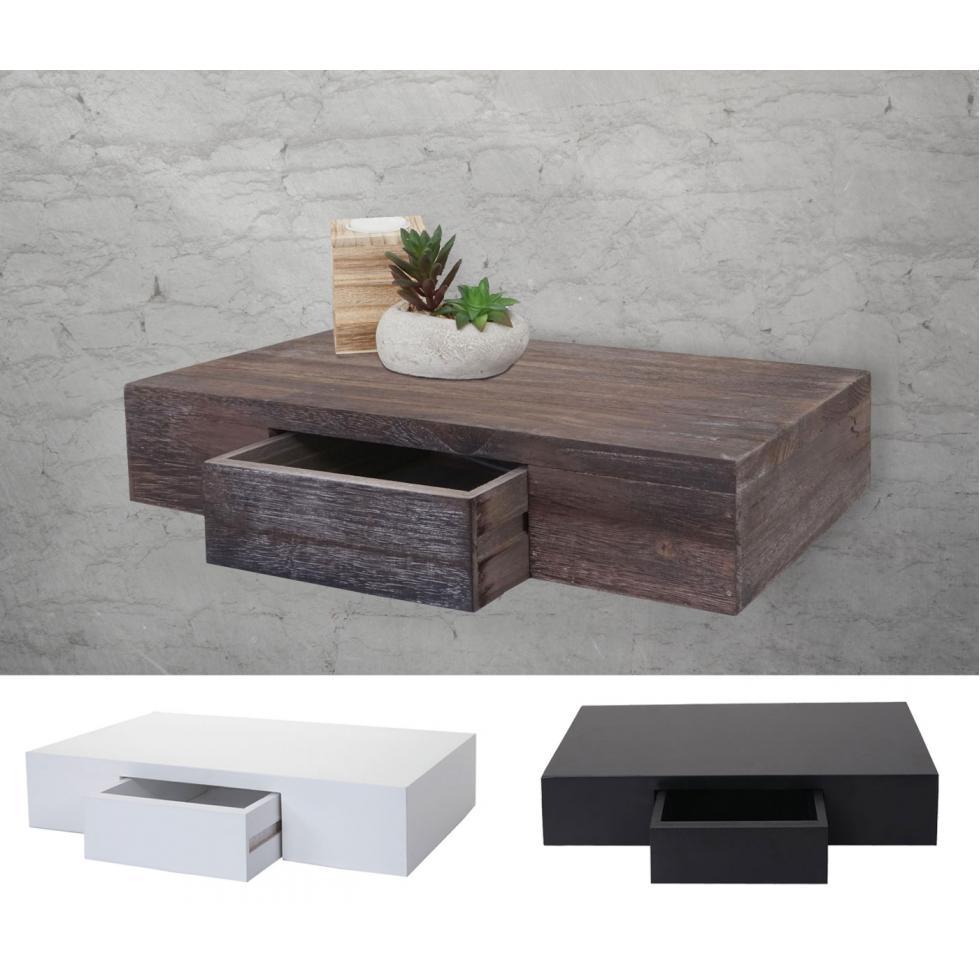 wandregal oise regal h ngeregal mit schublade 40cm ebay. Black Bedroom Furniture Sets. Home Design Ideas