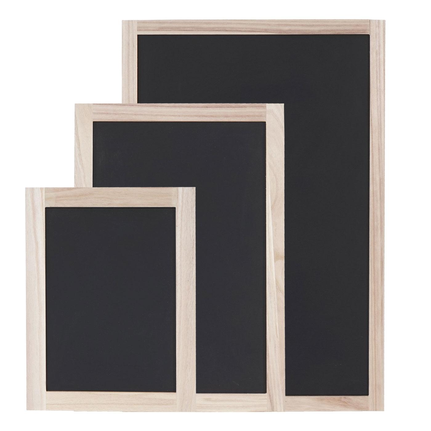 Mendler 3er Set Wandtafeln HWC-C18, Kreidetafel Schreibtafel Schiefertafel Dekotafel Notiztafel ~ Variantena 60993+60994+60995