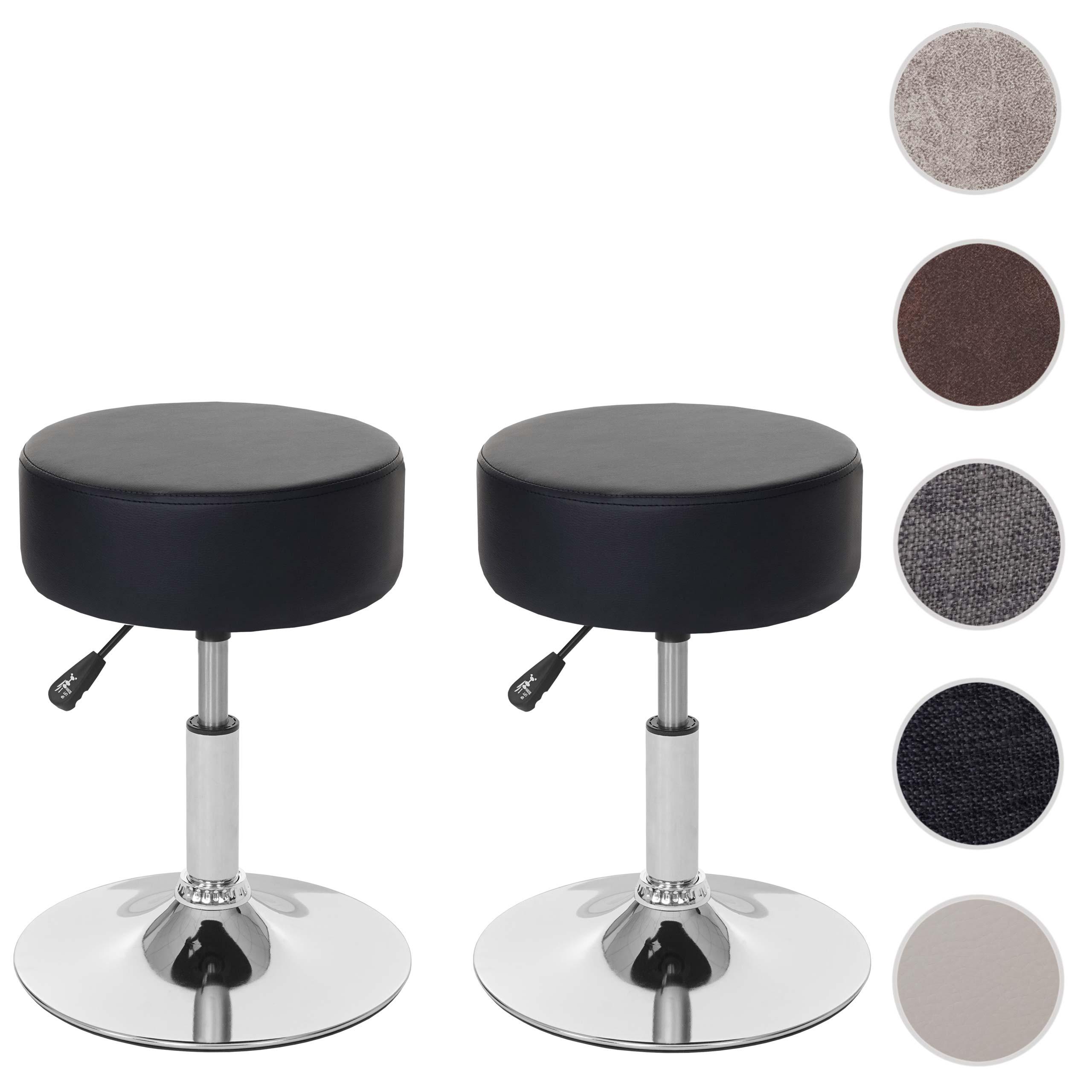 Mendler 2x Hocker HWC-C22, Sitzhocker Schminkhocker, höhenverstellbar Ř 35cm ~ Variantenangebot 61195