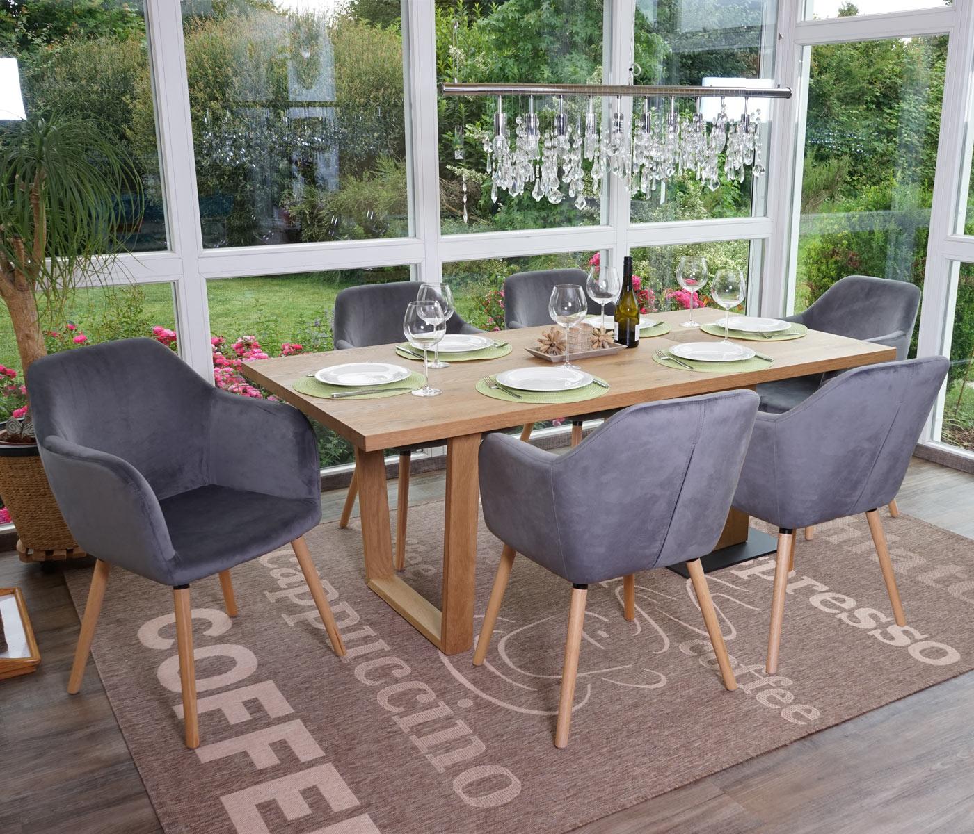 6x esszimmerstuhl malm t381 stuhl lehnstuhl retro 50er jahre design samt grau. Black Bedroom Furniture Sets. Home Design Ideas