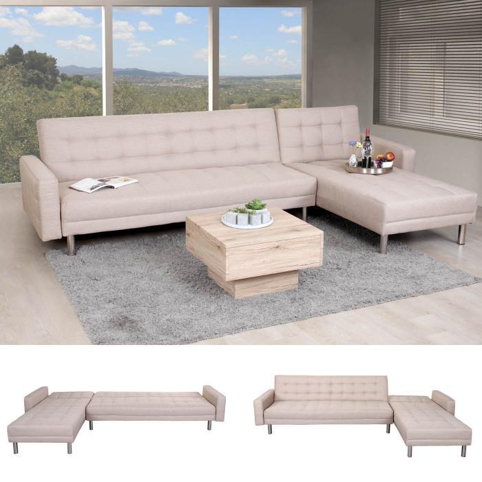Ecksofa Hwc A97 Sofa Couch Gastebett Schlaffunktion 298x190cm