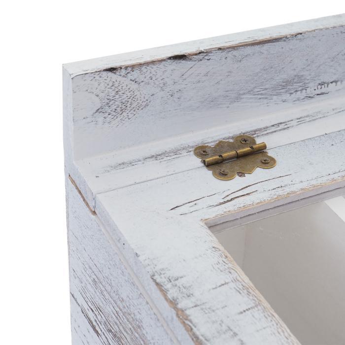 besteckkiste hwc c25 aufbewahrung kasten holzbox mit deckel paulownia shabby wei 37x33x17cm. Black Bedroom Furniture Sets. Home Design Ideas