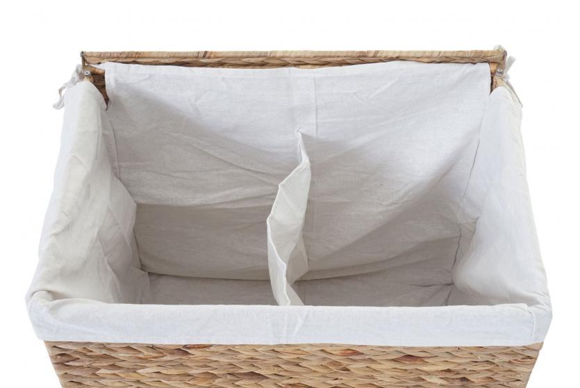 w schekorb hwc c27 w schesammler w schesortierer truhe 2 f cher wasserhyazinthe 50x60x43cm 129l. Black Bedroom Furniture Sets. Home Design Ideas
