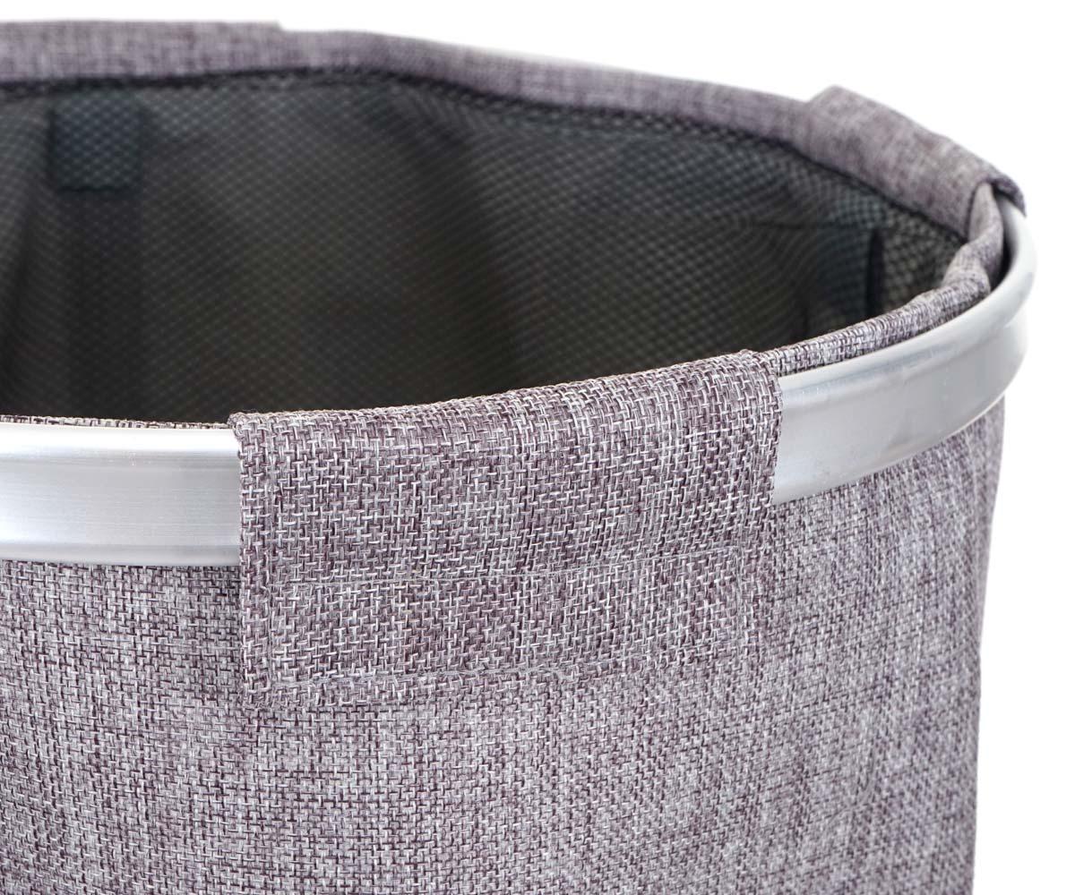 Aluminiumrand und Lasche mit Klettverschluss Wäschesammler HWC-C34