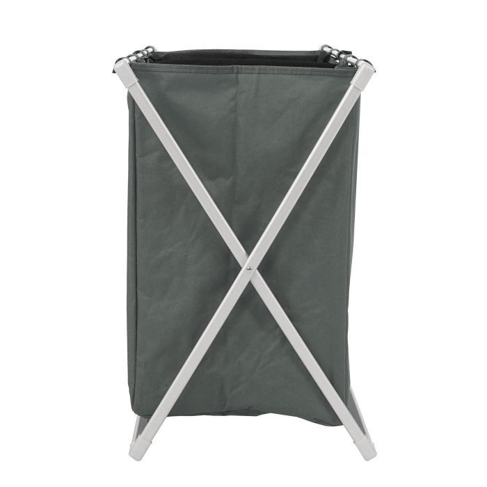 Wäschesammler Hwc C36 Laundry Wäschesortierer Wäschekorb 3 Fächer Klappbar 59x62x37cm 135l Grau