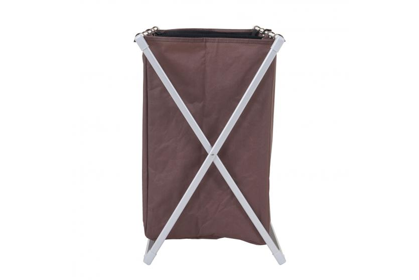 w schesammler hwc c36 laundry w schesortierer w schekorb 3 f cher klappbar 59x62x37cm 135l braun. Black Bedroom Furniture Sets. Home Design Ideas