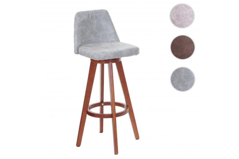 barhocker hwc c43 barstuhl tresenhocker holz textil drehbar vintage grau dunkle beine. Black Bedroom Furniture Sets. Home Design Ideas