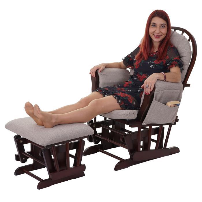 relaxsessel hwc c76 schaukelstuhl stillstuhl sessel schwingstuhl schwingsessel mit hocker. Black Bedroom Furniture Sets. Home Design Ideas