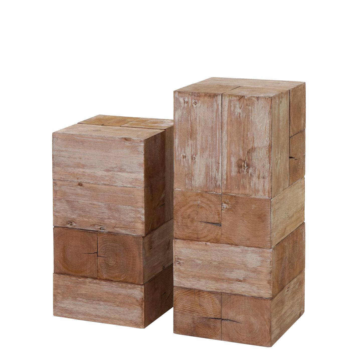 Mendler Blumentisch HWC-A15, Blumensäule Blumenständer, Tanne Holz rustikal massiv ~ Variantenangebot 61767
