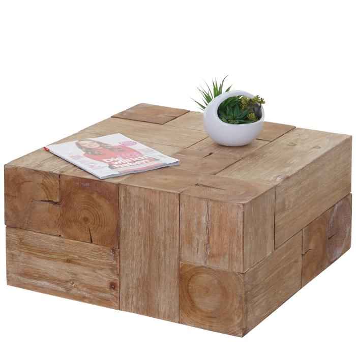 Couchtisch Hwc A15c Wohnzimmertisch Tanne Holz Rustikal Massiv 30x60x60cm