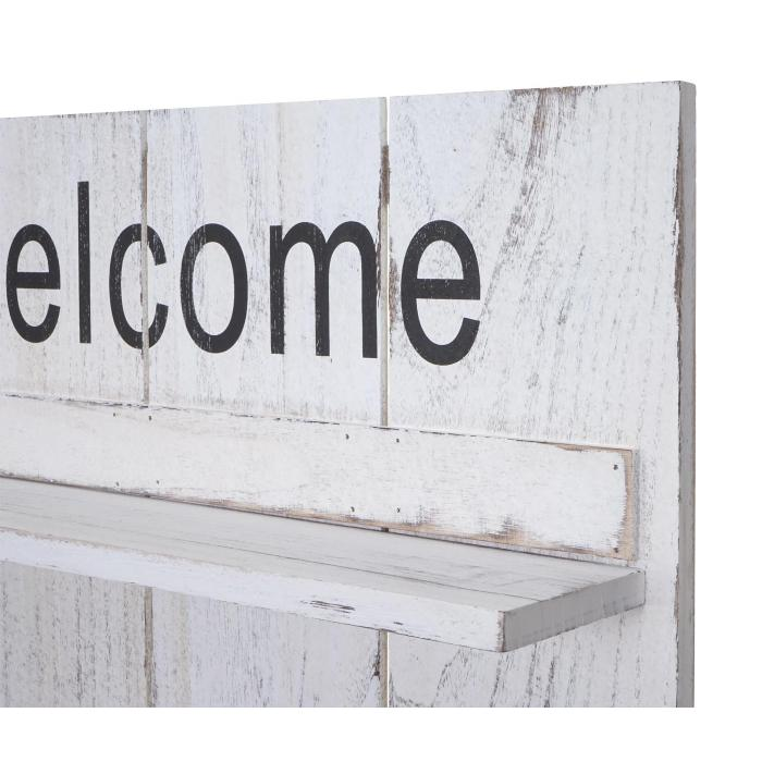 Garderobe Wandgarderobe HWC-C89 Welcome 90x60cm Shabby-Look