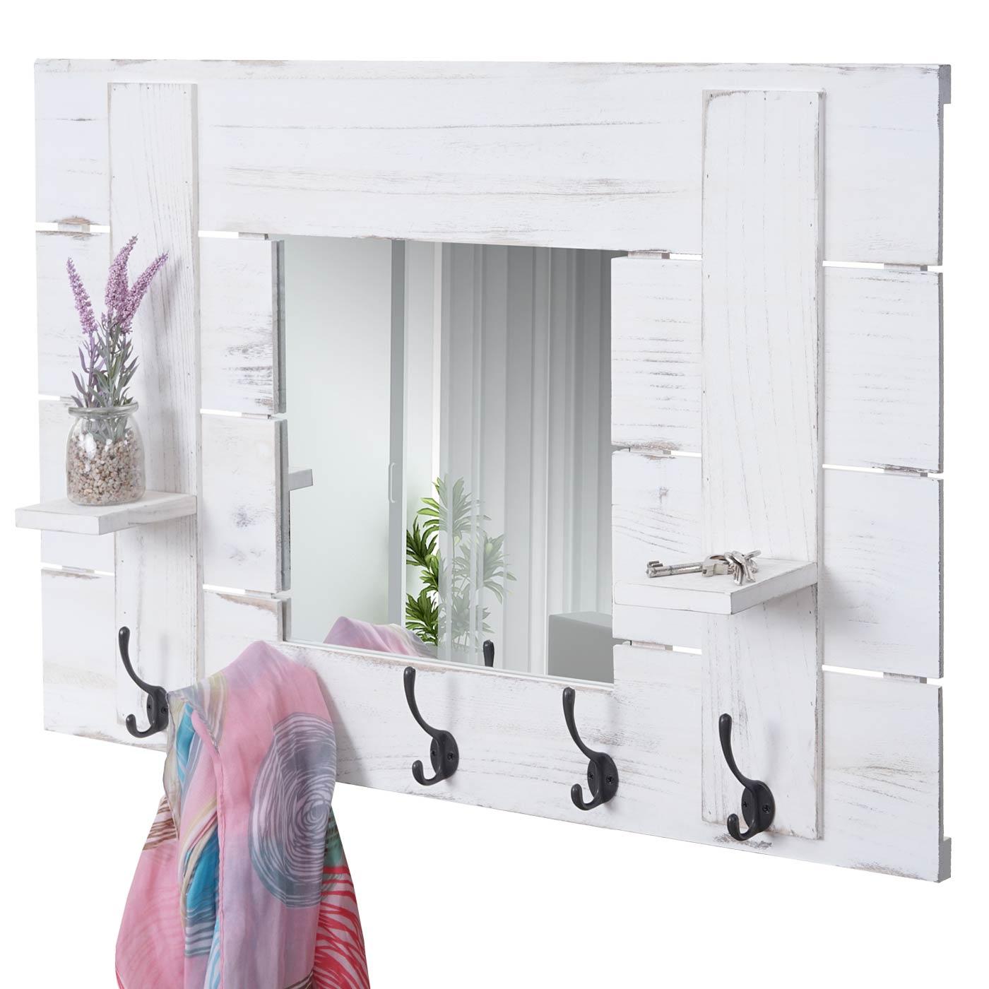 Wandgarderobe hwc c89 mit spiegel garderobenpaneel for Garderobenpaneel spiegel