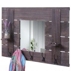Körbe Shabby-Look 56x68cm Wandorganizer mit Tafel Wandgarderobe HWC-A94