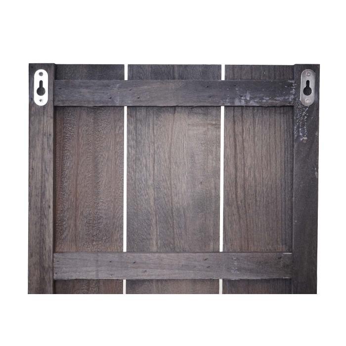 Wandregal HWC-C92, Wandpaneel Holzregal Regal, 3 Ebenen 150x33x13cm  Massivholz Vintage ~ braun shabby