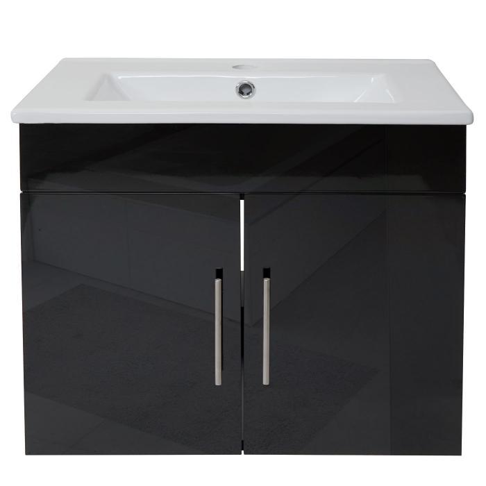waschbecken unterschrank hwc d16 waschbecken waschtisch hochglanz 60cm schwarz. Black Bedroom Furniture Sets. Home Design Ideas
