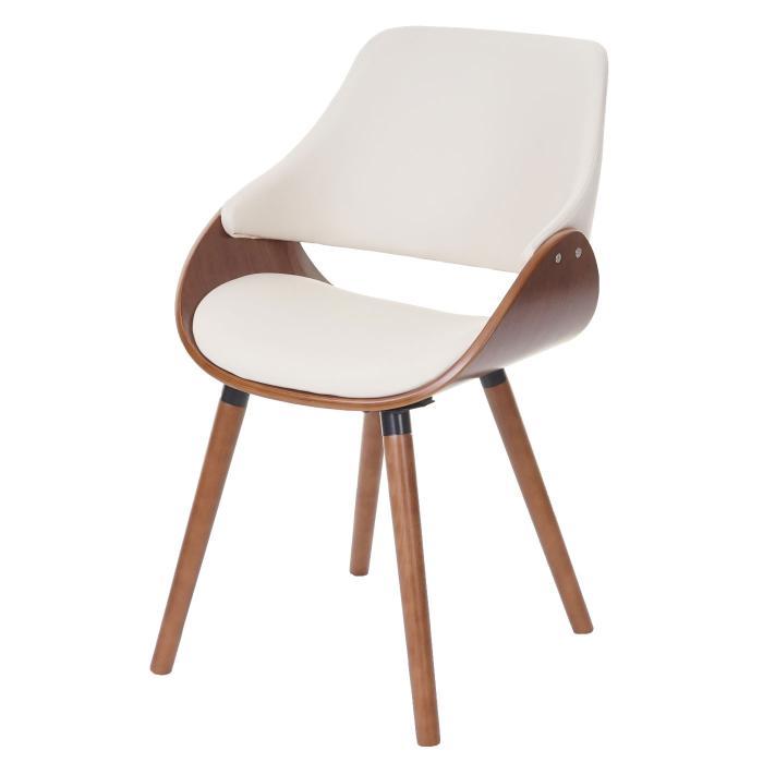 StuhlRetro Design B Wareloch In Kunstleder D23Lehnstuhl Creme Hwc ~ Rückenlehneesszimmerstuhl l3cT1FKJ