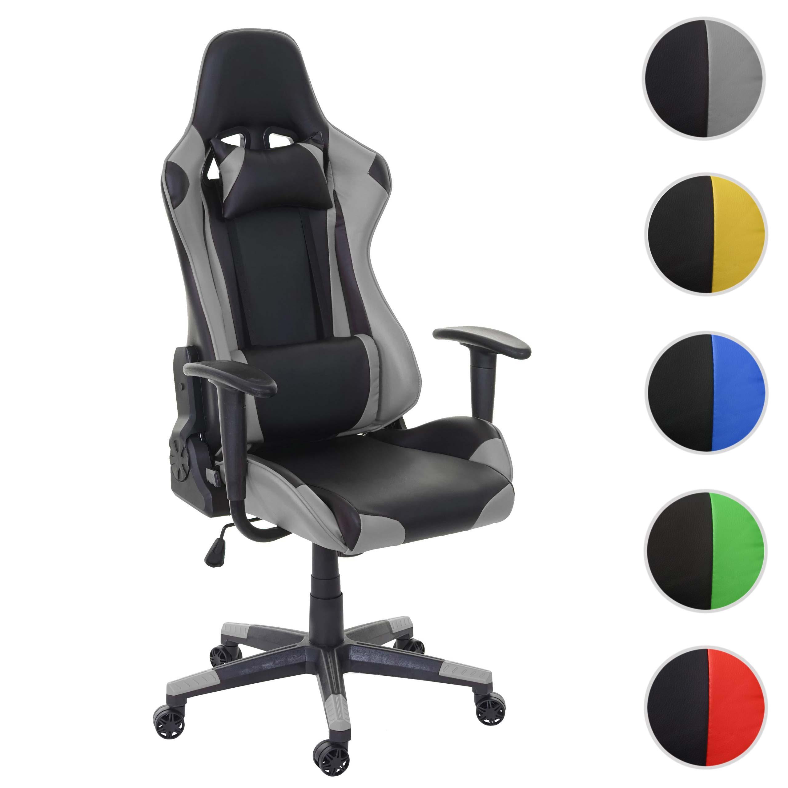 Mendler Bürostuhl HWC-D25, Schreibtischstuhl Gamingstuhl Chefsessel Bürosessel, 150kg belastbar Kunstleder ~ 62592